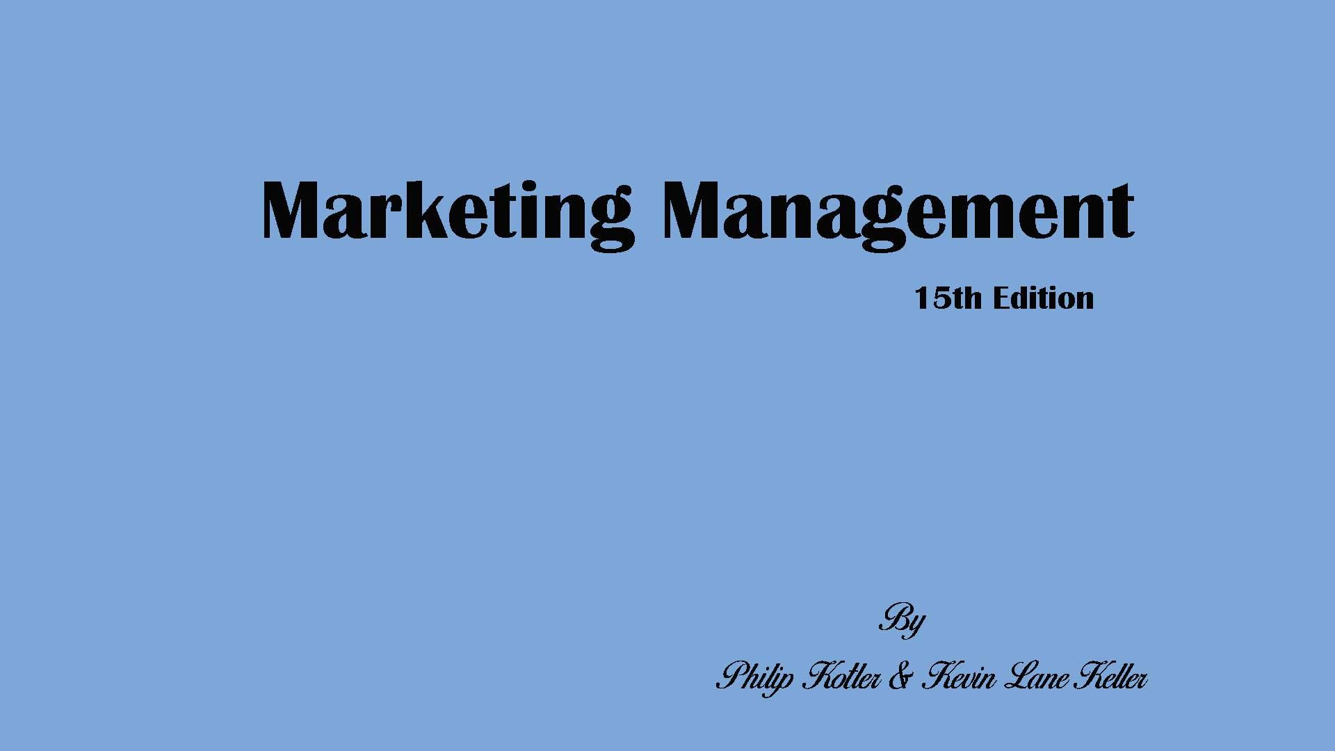 Marketing Management15th Edition