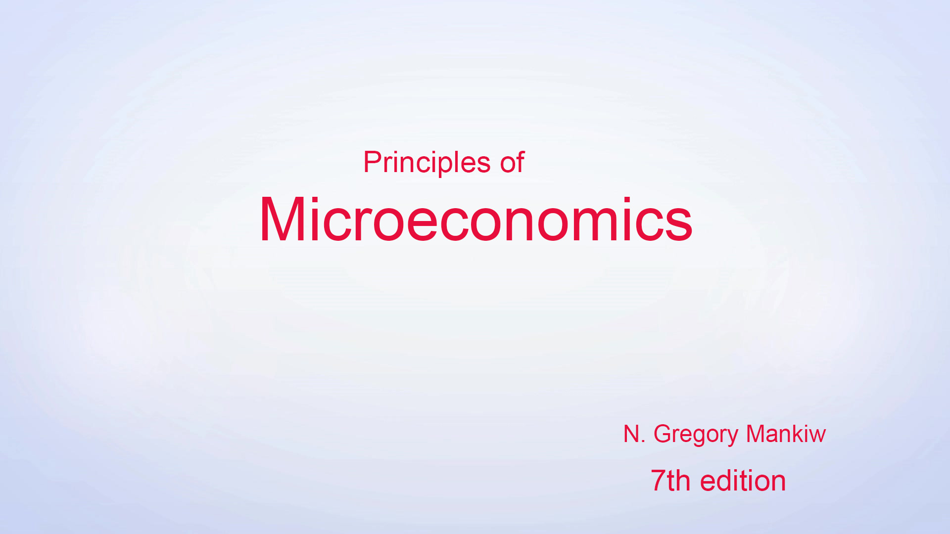 Principles of Microeconomics 7th Edition.N
